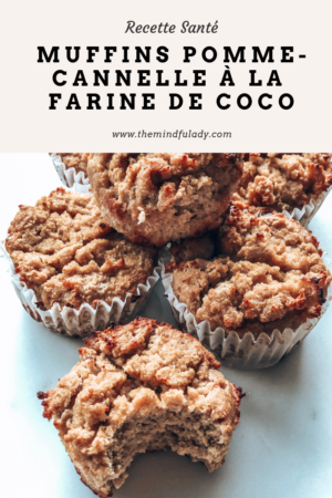 Muffins santé pomme cannelle