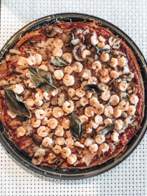 Pizza santé farine d'amarante et quinoa