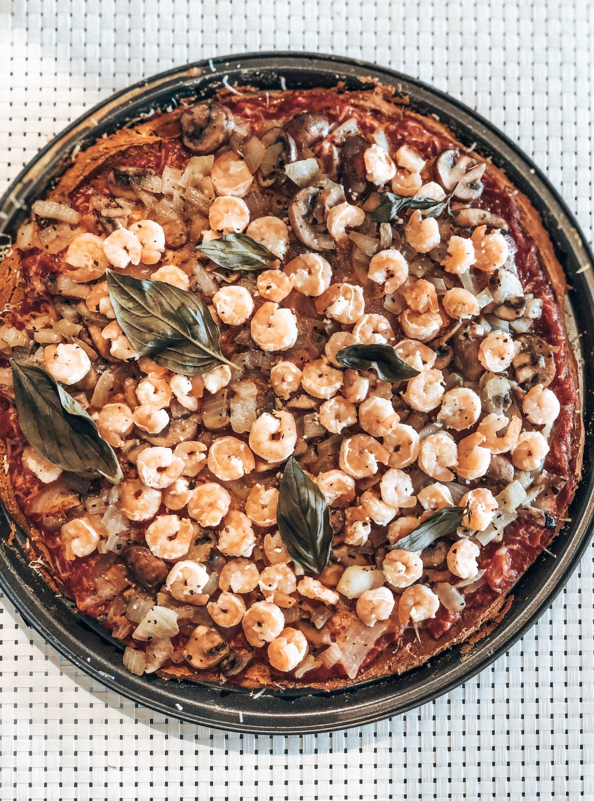 Pizza santé à la farine d'amarante et de quinoa
