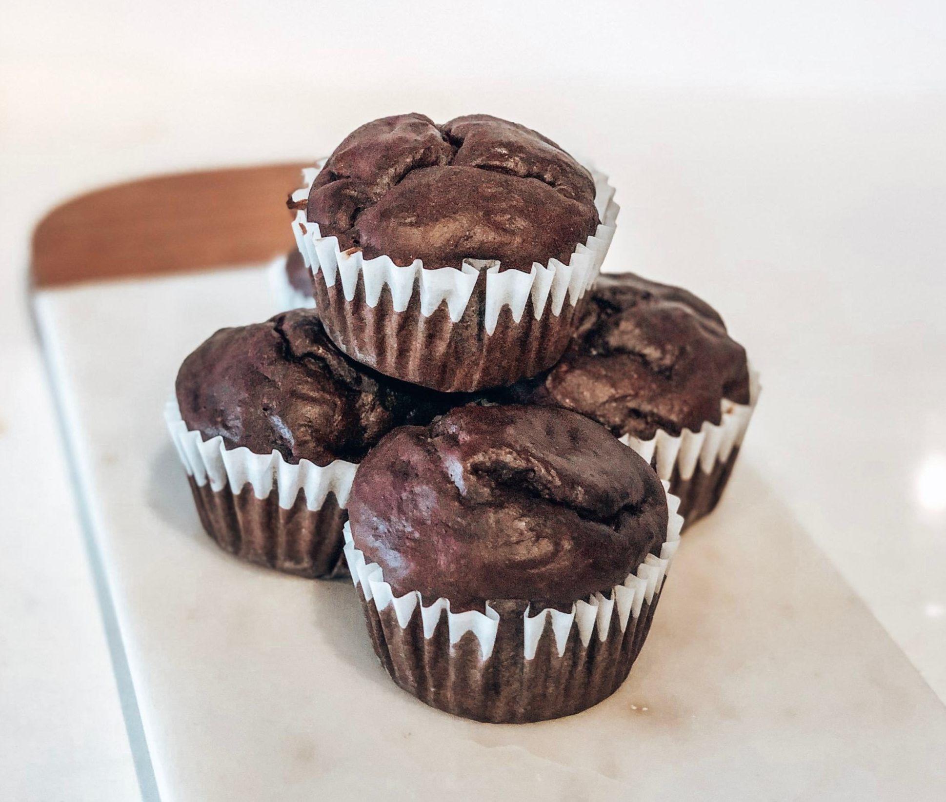 Muffins santé chocolat banane