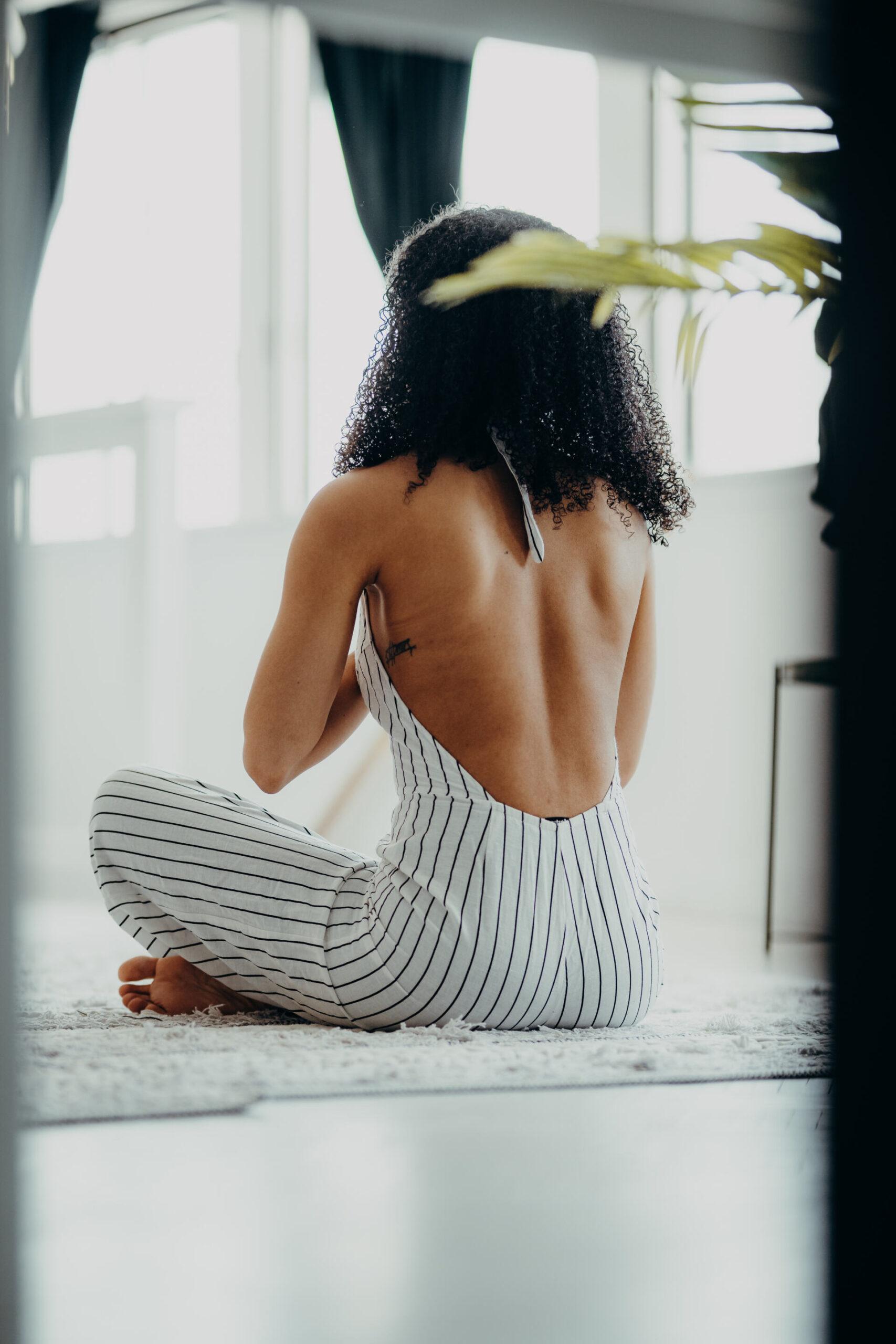meditation sur un tapis